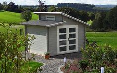 Doppel-Pultdach Gartenhaus Modell Aktiva 28 - A-Z Gartenhaus-GmbH