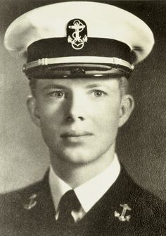 Jimmy Carter in his Annapolis Naval Academy uniform. Ca. 1943.