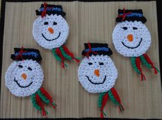 Holiday Snowman Magnet and Coaster | Craftsy