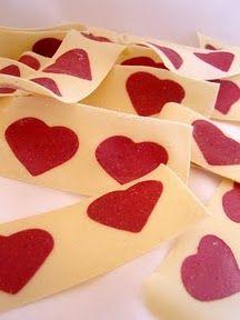 Insert shapes made of beet pasta into regular pasta.