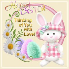 Thinking of you with love easter quotes easter images happy easter easter gifs happy easter quotes easter love quotes easter pic happy easter 2020 Happy Easter Gif, Happy Easter Quotes, Happy Easter Wishes, Happy Easter Greetings, Easter Bunny Pictures, Cute Easter Bunny, Easter Greetings Messages, Easter Ecards, Easter Wallpaper