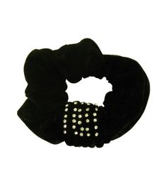 66e3f52cf56d5 Velour Scrunchy with Studs
