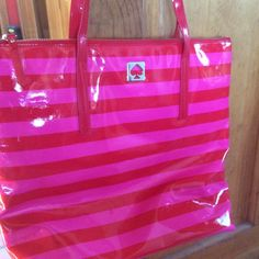 Tote Gorgeous pink and red Kate Spade tote. Used once or twice and in EXCELLENT condition. kate spade Bags Totes