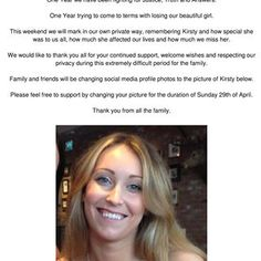 These sad words from #KirstyMaxwell family at this terrible time say it all