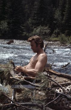 """elawernersdatter: """" shirtless is the one thing that could top """"white shirt"""" ;-) just WOW, Clint! """""""