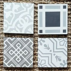 "1,316 Likes, 18 Comments - Cement Tile Shop (@cementtileshop) on Instagram: ""Top left: Amalia Gris, Top right: Preston, Bottom right: Leon I, Bottom left: Whilden. #Repost…"""