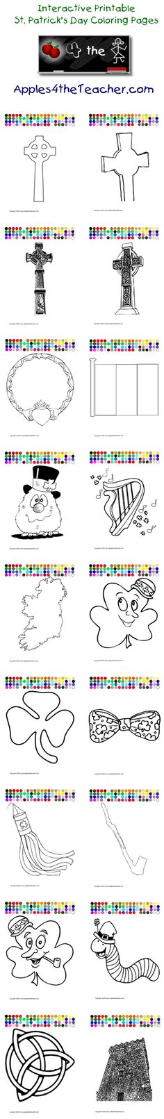 Apples4theteacher Coloring Pages : St patrick coloring page isn t it adorable saint