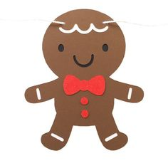 Christmas Gingerbread Cookie ($15) ❤ liked on Polyvore featuring home, home decor, holiday decorations, christmas, holiday home decor, photo banner, christmas home decor and holiday decor