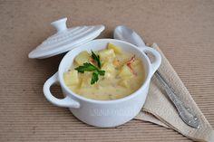 Sopa cremosa de papa hecha en cocotte #LeCreuset