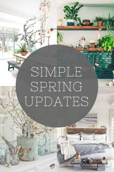 Easy little updates to make your home feel fresh for spring, they're all so simple they can be included in your spring clean. The perfect way to update your home decor on a budget & with little time to invest. Reclaimed wood shelving, plants, fresh bedding and blossom are all used to update your interior design scheme at home. Whether your look is industrial, vintage or modern rustic these tips can all apply.