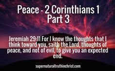 Peace - 2 Corinthians 1 Part 3: Grace be to you and peace from God our Father, and from the Lord Jesus Christ. We've covered Grace, now on with the Peace!