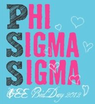 Phi Sigma Sigma...they can't miss you on campus with this shirt!