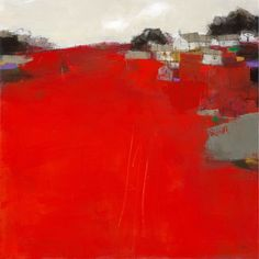 Red Farm by Roger Lane Abstract Landscape Painting, Landscape Art, Landscape Paintings, Abstract Art, Red Artwork, Urbane Kunst, Paintings I Love, Contemporary Landscape, Land Scape