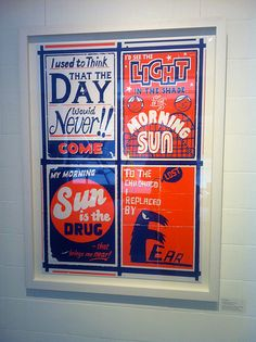 Paul Thurlby again. New Order (1) lyrics. His work probably deserves its own board.