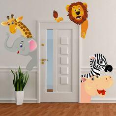 Animals around the door.