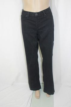 White House Black Market Black Denim Jean Pant Size L