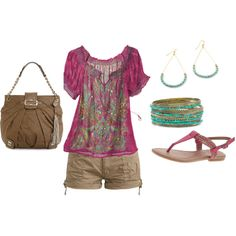 Such a pretty top, with great bracelets and matching sandals