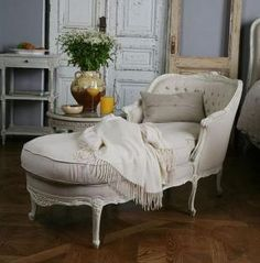 Louis Chaise - would love to have one of these in the master bedroom of my dream home.  :)