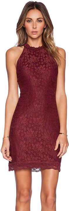 A lace WYLDR Chaser Dress that'll turn heads at your holiday parties.