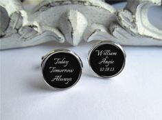 Mens Cufflinks Wedding Cufflinks by AllAboutYouCreations on Etsy, $24.00