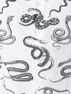 Alexander McQueen chemise à serpents imprimés