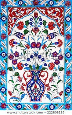 ceramic tiles floral patterns from Turkey-İ. Turkish Tiles, Turkish Art, Portuguese Tiles, Moroccan Tiles, Ceramic Tile Art, Ceramic Design, Ceramic Painting, Tile Patterns, Pattern Art