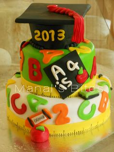 Elementary graduation cake ideas See more ideas about cupcake cakes graduation and cake. In build or adorn the graduation cake all cake makers has varied taste also mark. Graduation Cake Designs, College Graduation Cakes, Graduation Party Desserts, Graduation Theme, Graduation Cupcakes, Graduation Ideas, Teacher Cakes, School Cake, Cake Makers