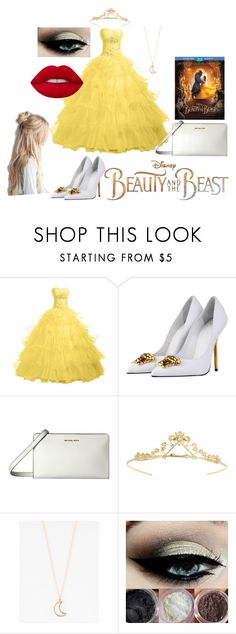 """""""Now It's No Wonder That Her Name Means Beauty"""" by avasheagirl ❤ liked on Polyvore featuring Versace, MICHAEL Michael Kors, Miss Selfridge, Full Tilt, Disney, BeautyandtheBeast and contestentry"""
