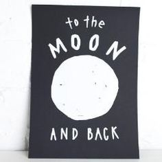 Crushes Print To The Moon and Back #worthynzhomeware wwworthy.co.nz
