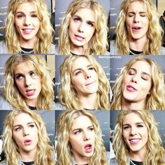 Emily Bett Rickards ♥ Emily Bett Rickards, Blonde Actresses, Actors & Actresses, Felicity Smoke, Stephen Amell Arrow, Danielle Panabaker, Character Poses, British, Green Arrow