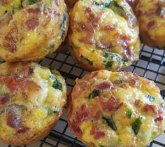 Spinach Swiss and Bacon Egg Muffins Recipe via @SparkPeople