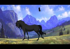 Strider by NakimiWolf on DeviantArt Spirit The Horse, Spirit And Rain, Spirit Drawing, Striders, Horse Art, Art Drawings Sketches, Dreamworks, Mustang, Places To Visit
