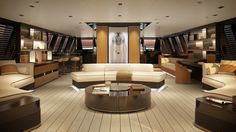 Explorer sailing yacht that combines power and elegance Perini Sailboat interior