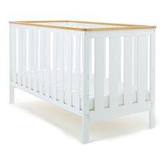 Obaby York Cot Bed - White with Pine Trim