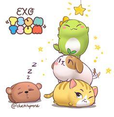 Cuuuute! EXO Tsum Tsum
