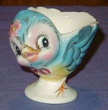 Lefton 1950 Vintage Bluebird Egg Cup #286