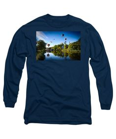 Hartford Vermont Long Sleeve T-Shirt featuring the photograph Hot Air Balloons In Queechee 2015 by Jeff Folger