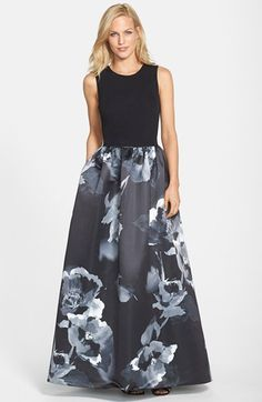 Free shipping and returns on Aidan Mattox Print Satin Ballgown at Nordstrom.com. An understated darted bodice shines the spotlight on this ballgown's fully fashioned skirt brightly painted in flowers.