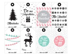 Etiquetas de regalos de NAVIDAD