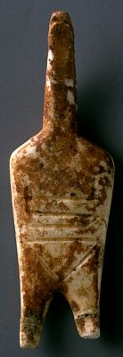 Female figurine  marble  Early Cycladic II period - Syros phase  2800-2300 BC