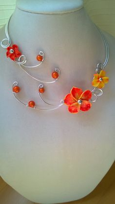 Aluminium wire necklace Open necklace by LesBijouxLibellule
