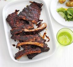Sticky ribs with roast potato salad recipe - Recipes - BBC Good Food