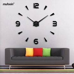 2017 New High Quality 3D Wall Stickers saat Creative Fashion Living Room Clocks Home Decoration Large Wall Clock duvar saat. Yesterday's price: US $37.77 (30.86 EUR). Today's price: US $9.82 (8.13 EUR). Discount: 74%.