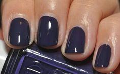 Love dark purple nail polish :)