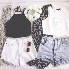 1460922325 clothes crop top fashion jeans favim.com 2405410 Cute Summer Outfits, Spring Outfits, Summer Shorts, Outfit Summer, Summer Clothes For Teens, Holiday Outfits For Teens, Summer Fashion For Teens, Beach Outfits, Fashion Spring