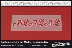 Schablone Bordüre Blume Margerite Ornament - MB14 von Lunatik-Style via dawanda.com