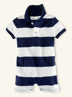 Striped Polo Shortall - Layette One-Pieces - RalphLauren.com