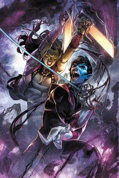 Nightcrawler and Gamora