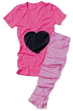 Victoria's Secret Pink Tee & Legging Sleep Set