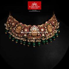 Buy Necklaces Online | Timeless Heritage Choker! from Kameswari Jewellers Antique Jewellery Designs, Gold Jewellery Design, Gold Jewelry, Diamond Jewelry, Antique Jewelry, Antique Necklace, Gold Necklace, Necklace Designs, Bridal Jewelry